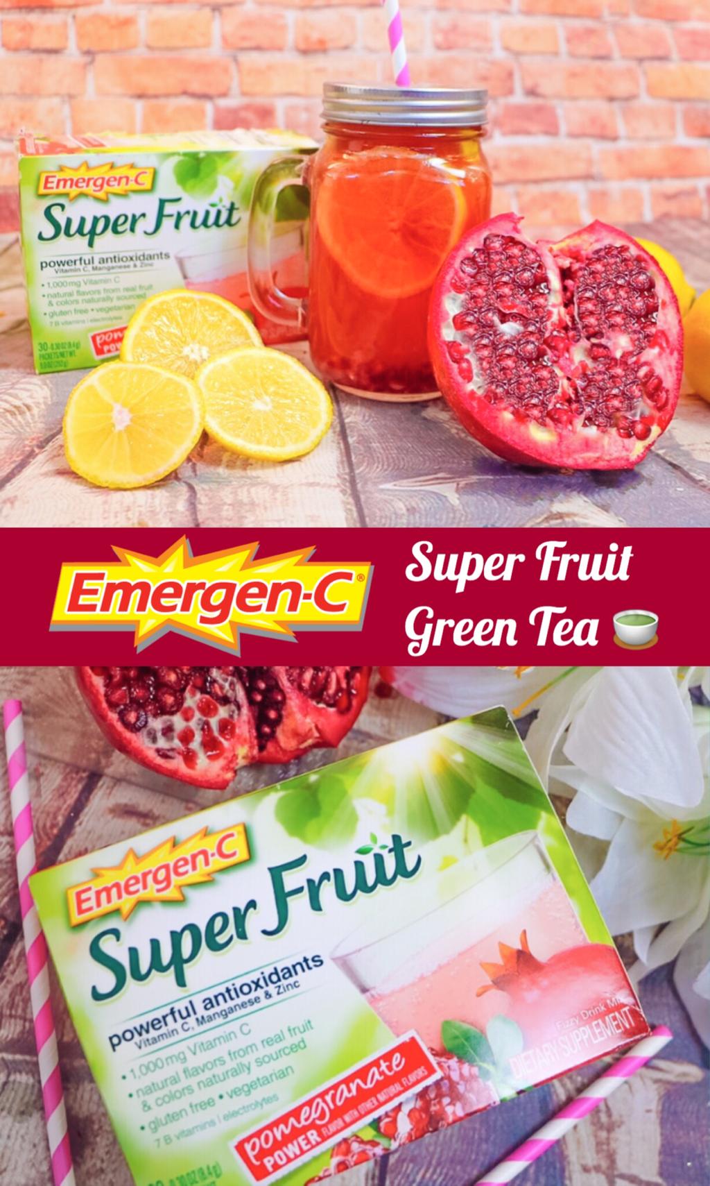 EMERGEN-C SUPER FRUIT GREEN TEA #HowDoYouEmergenC #cBias #ad