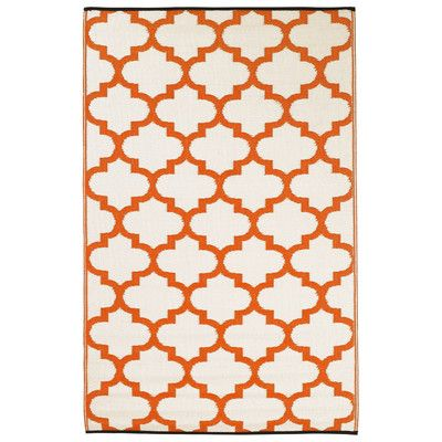 Fab Rugs Tangier Carrot World Indoor/Outoor Plastic Area Rug