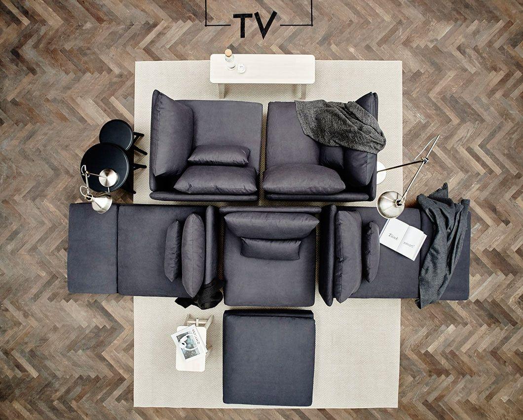IKEA-bank-inspiratie-woonkamer- | Möbler | Pinterest