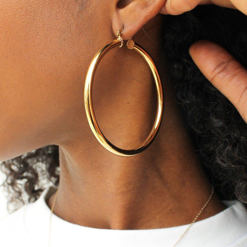 WHOLESALE Pink Earrings LARGE 3 inch Pink hoop earrings Classic Hoop Earrings 10 Pairs