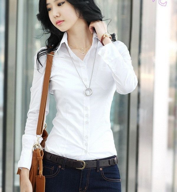 New Spring Summer Office Ladies White Shirts Long Sleeve Casual Women Blouse Formal Slim Women Tops and Shirts Blusas Femininas