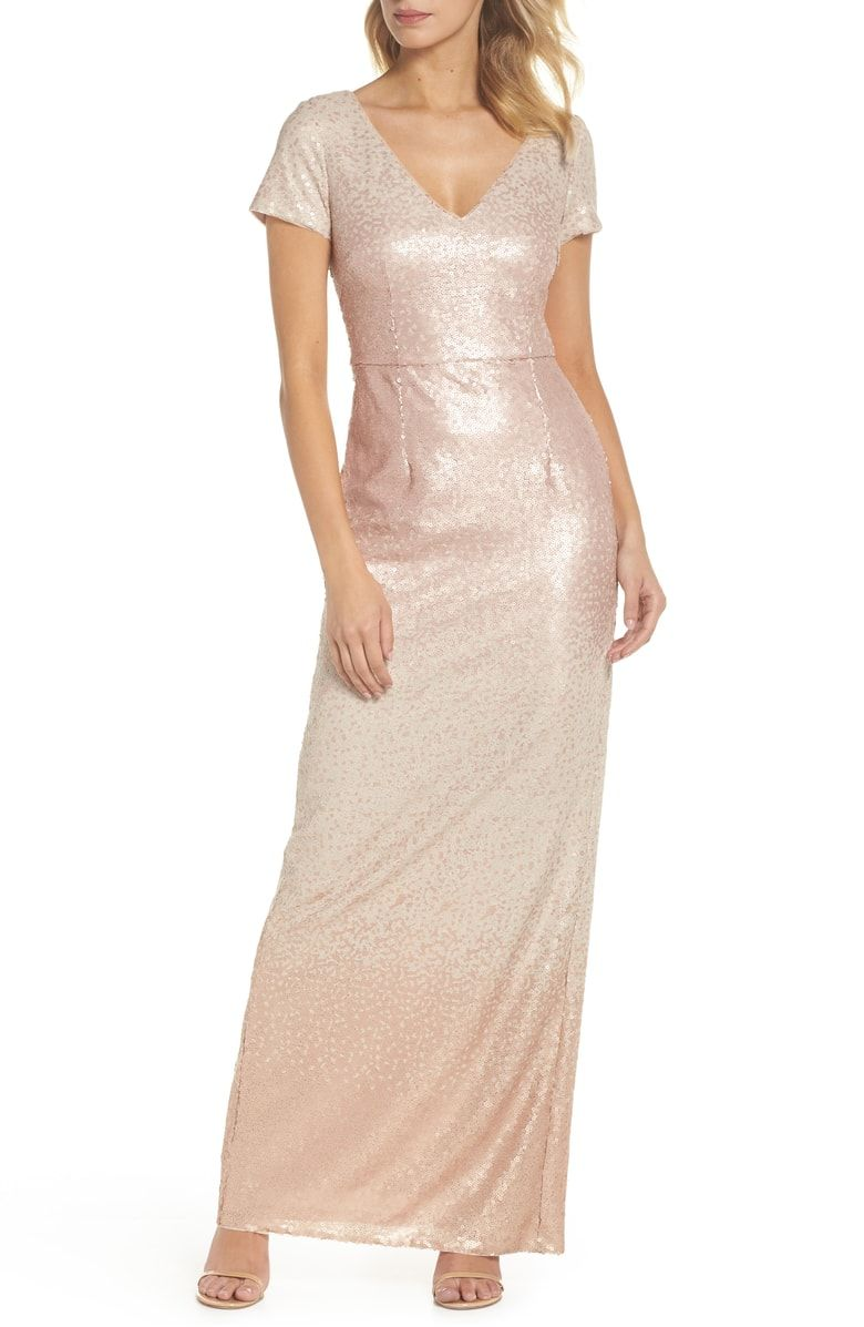 294942750f Free shipping and returns on Adrianna Papell Ombré Sequin Gown at ...