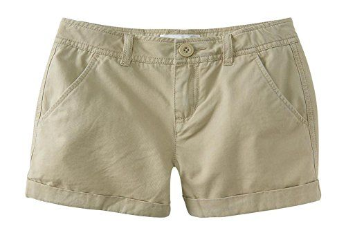 """P.S. From Aeropostale Girls Solid Twill Shorty Shorts 14 Tundra. Regular sizes available. Approx. inseam (10): 2.5"""". Button-and-zipper fly closure with an adjustable waistband offers a customized fit. Style: 3345. Imported. 100% cotton. Machine wash/dry."""