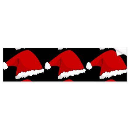 Christmas santa hat n bumper sticker