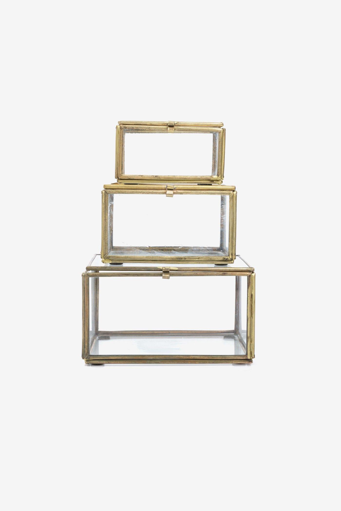Glass Storage Box Set