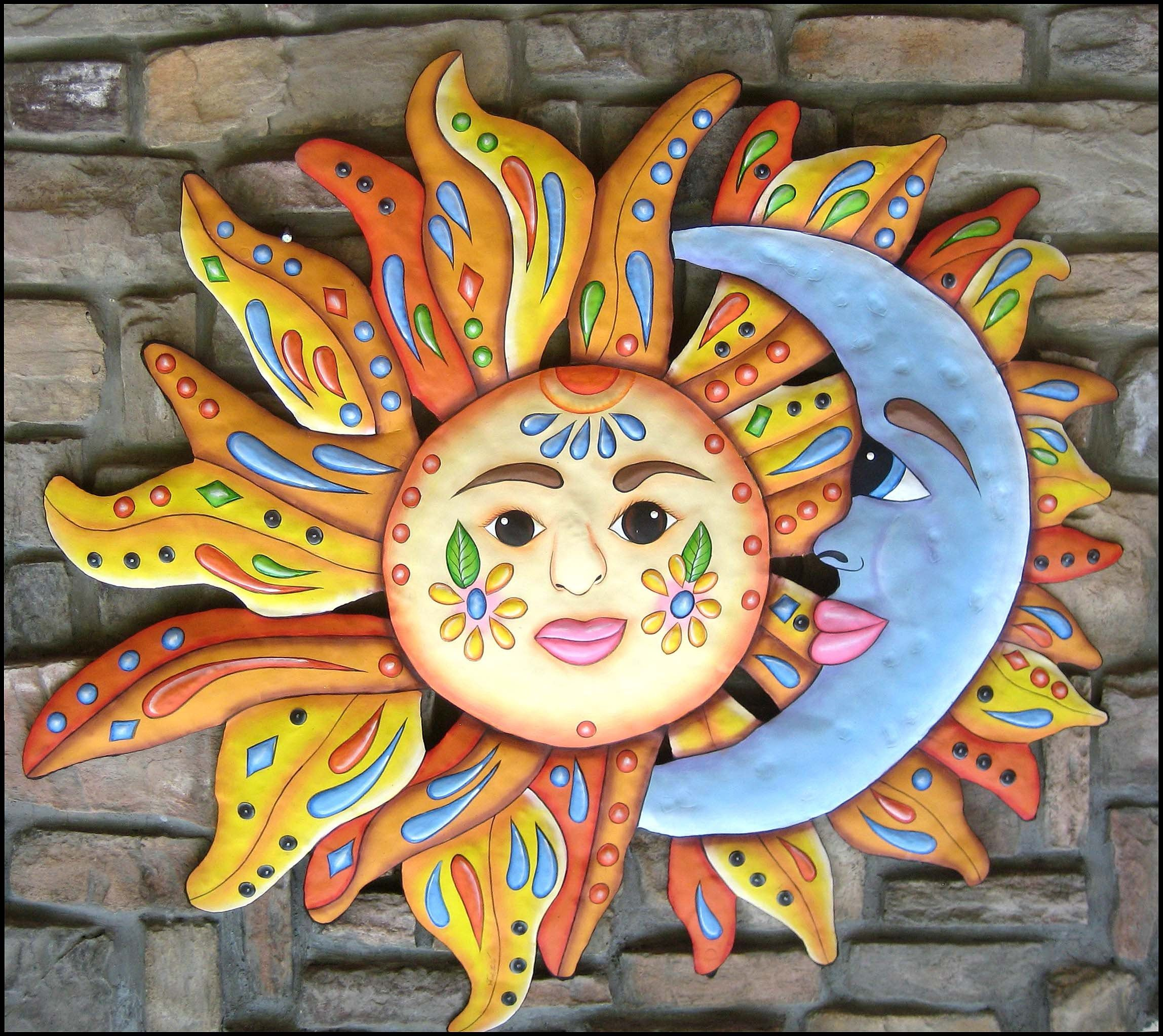 Sun Moon Art Garden Decor Outdoor Metal Wall Art Outdoor Etsy Outdoor Metal Art Outdoor Metal Wall Art Hand Painting Art