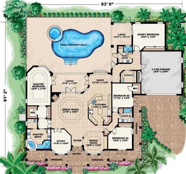 Awesome Coastal Home Plans   Aruba