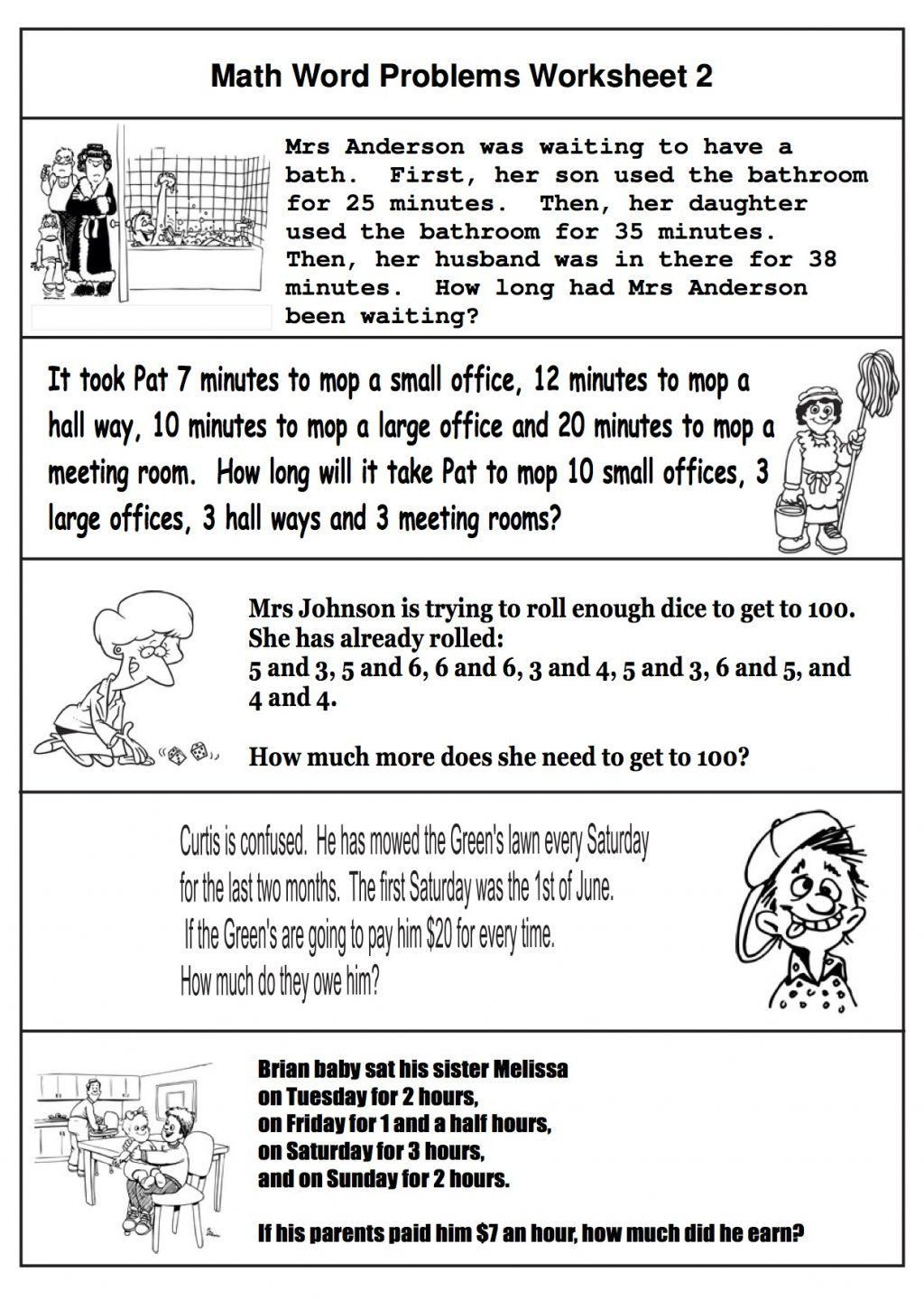 2nd Grade Problem Solving Worksheets 2nd Grade Math Word