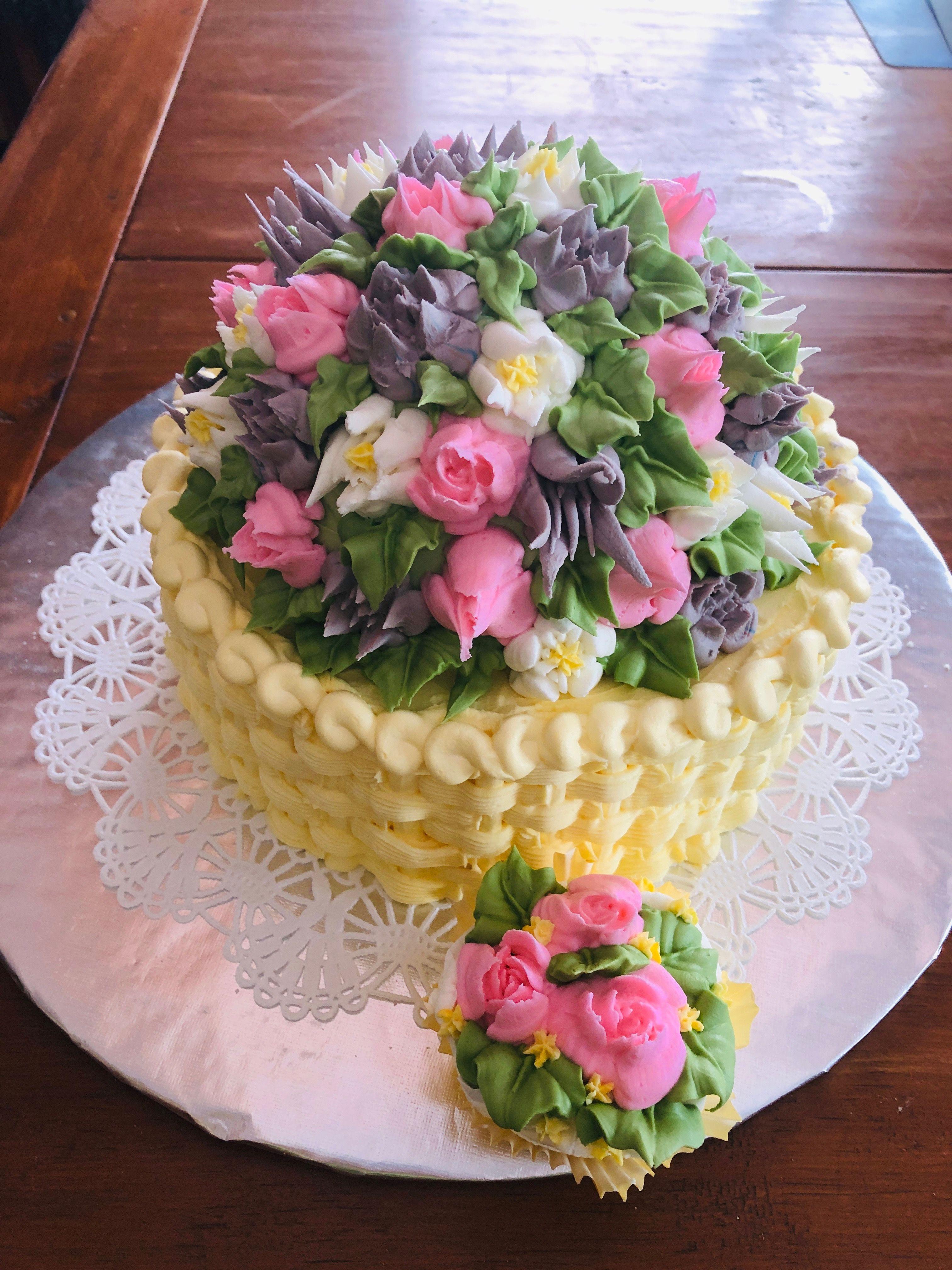 Easter basket cake by joanne nichols chatterbox bakery
