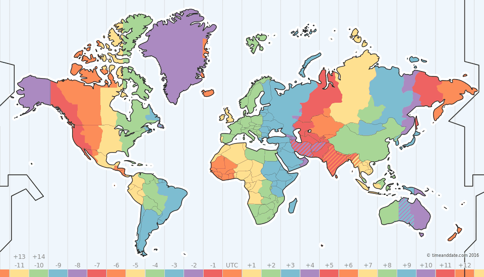 Time Zone Map Travelling travelling Pinterest