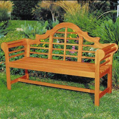 Lutyens Wood Garden Bench | Wayfair | v.beach | Pinterest | Wood ...