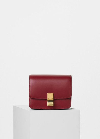 f627c6707a Céline | Small Classic Bag in Red Box Calfskin | Celine Classic Box ...