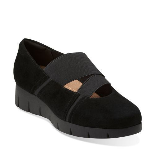 Womens Shoes Clarks Daelyn Villa Black Suede