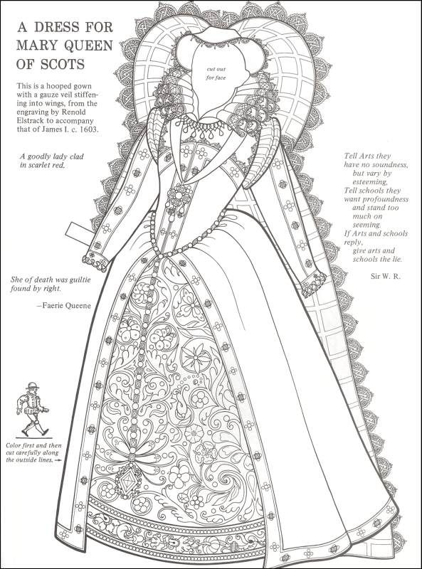Queen Elizabeth Colouring Pages Coloring Pages Elizabethan