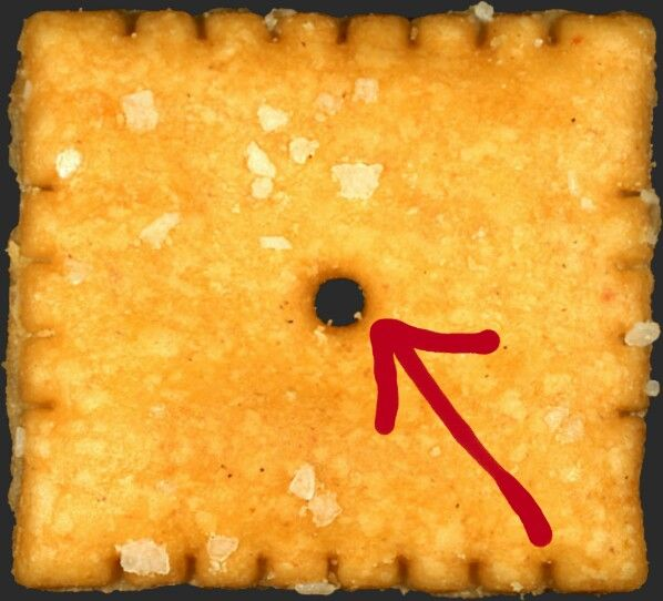"""The hole in the center of a Cheeze - it is called a """"gawker."""""""