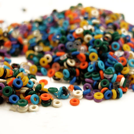 1000 Silicone Jump Rings 24 gauge 1.5mm OD - Teeny Tiny - 12 Colors ...