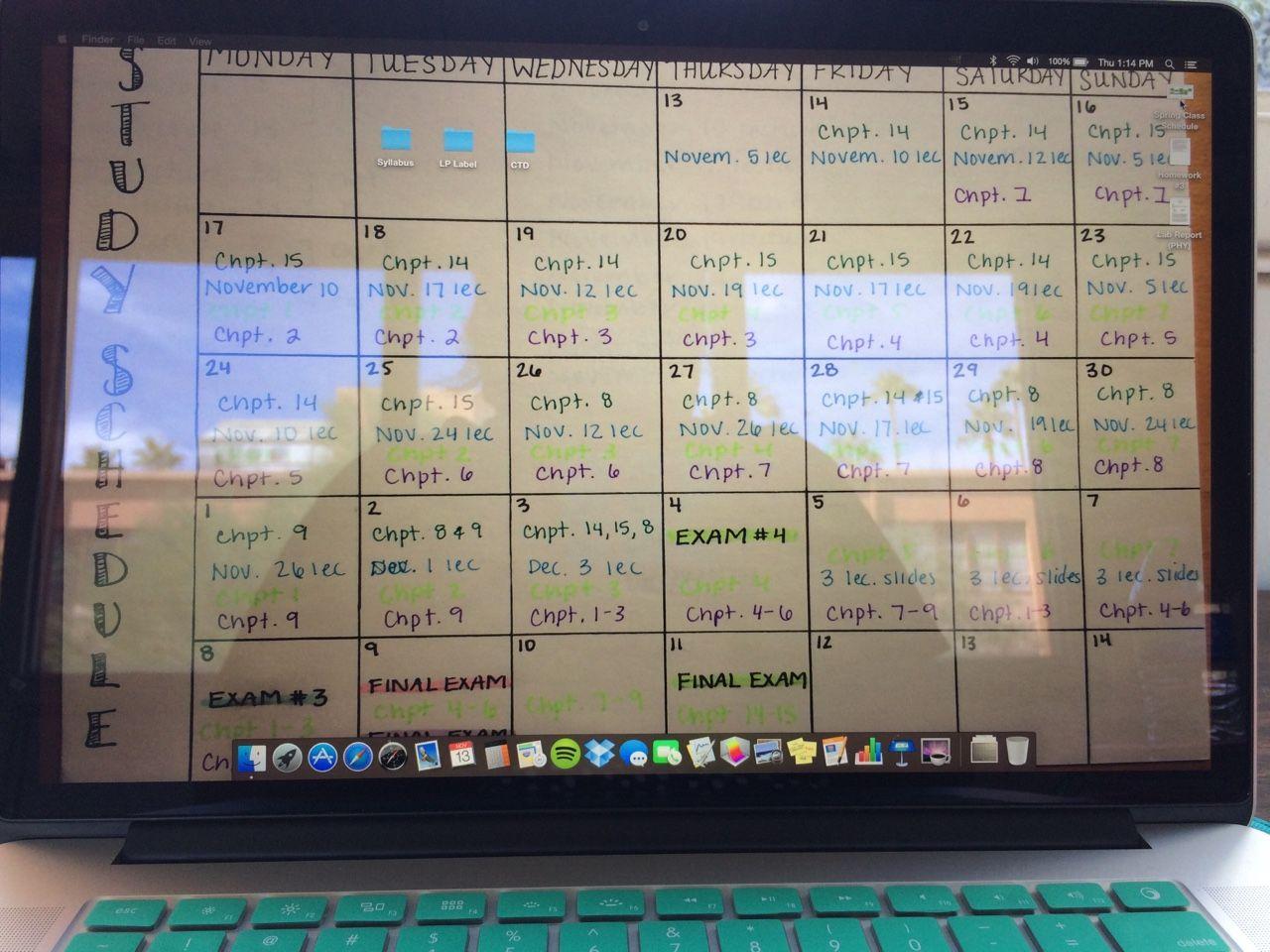 studyforsuccess: I always make my study schedule my wallpaper ...