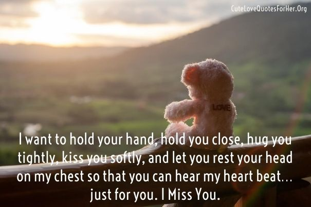 I will miss you my love quotes