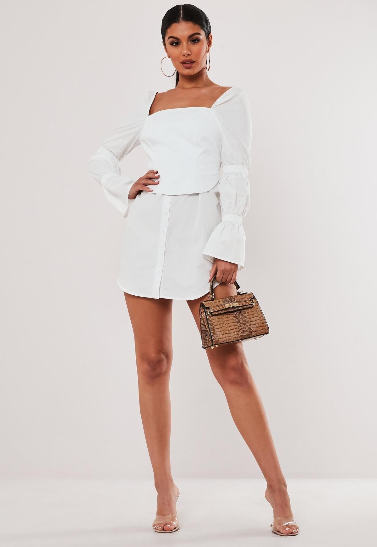 Stassie X Missguided White Poplin Corset Shirt Dress Missguided Trending Dresses Women Dress Online Corset Shirt [ 1739 x 1200 Pixel ]