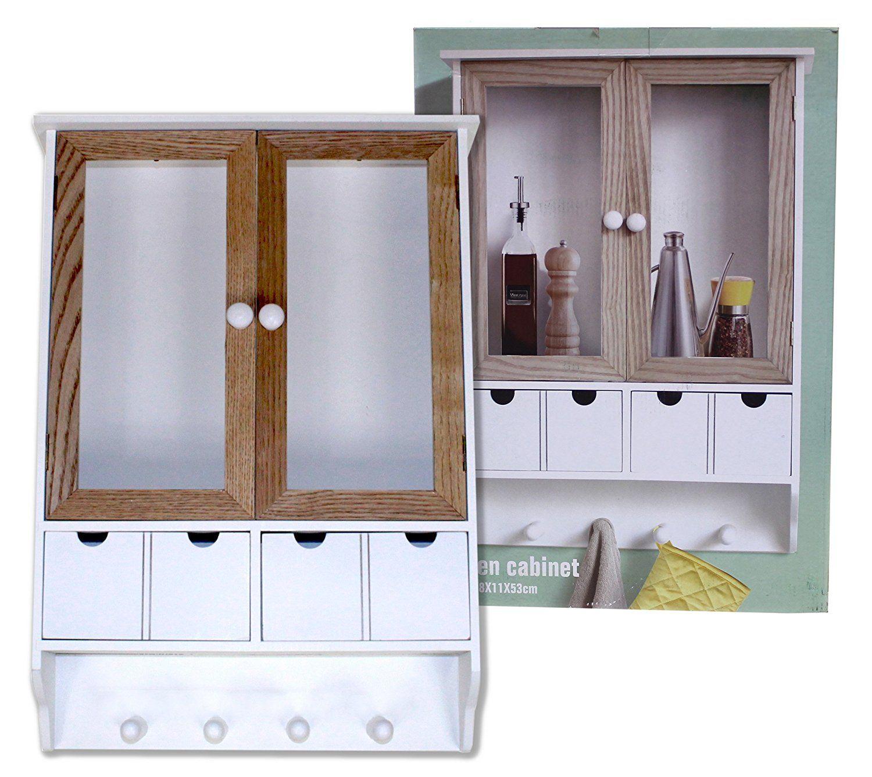 Küchenschrank im Landhaus Stil / 38 x 11 x 53 cm / Hängeschrank ...