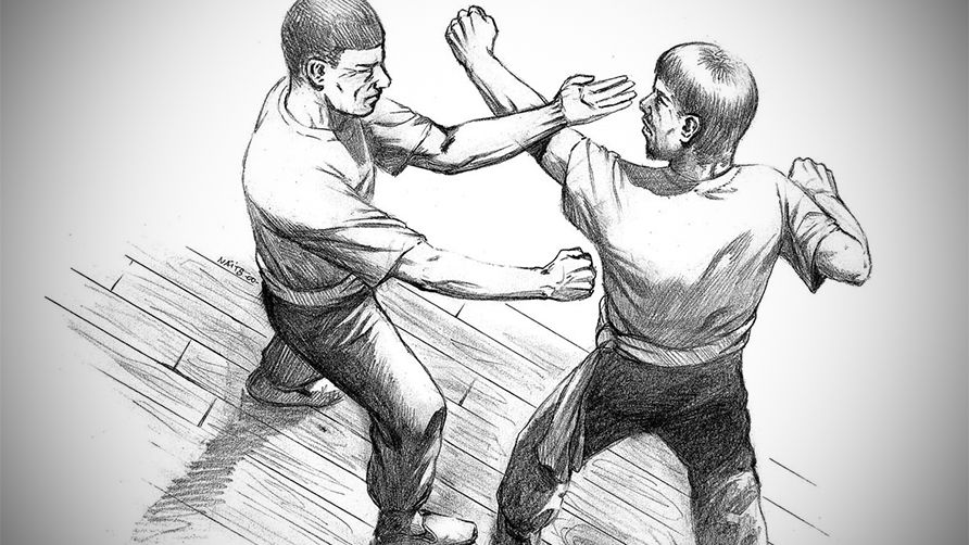 Wing Chun Martial Art Sword Logo GYM Train Kung Fu MMA Shirt