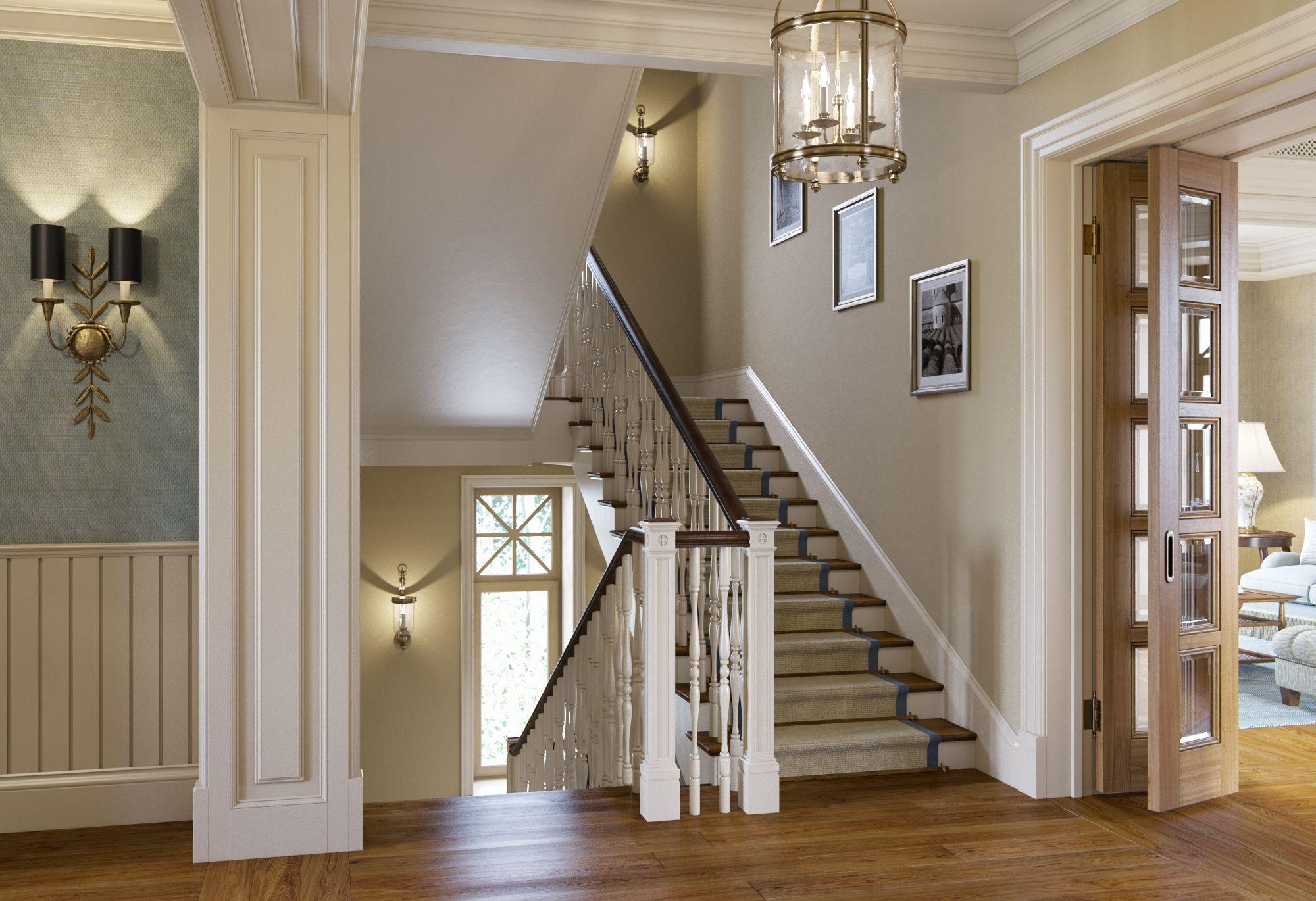 декор лестничного пролета в доме фото вариантов много, есть