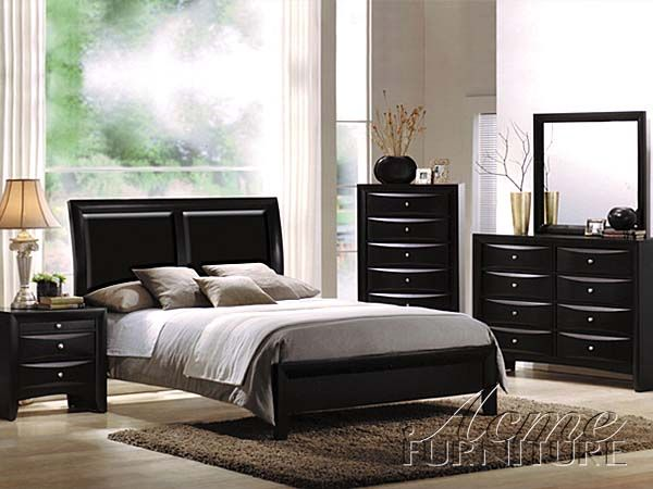 Acme Furniture Ireland Black Dresser and Mirror Dressers Mirrors