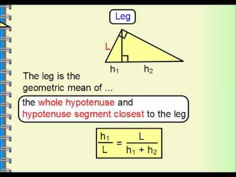 Geometry - Right Triangle Similarity, Geometric Mean ...