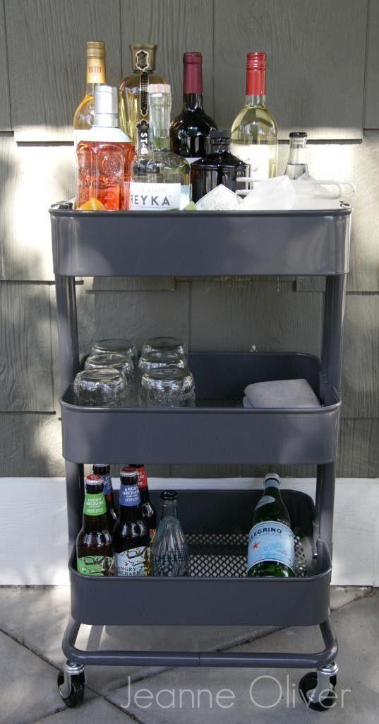 36 Creative Ways To Use The Raskog Ikea Kitchen Cart Entertaining