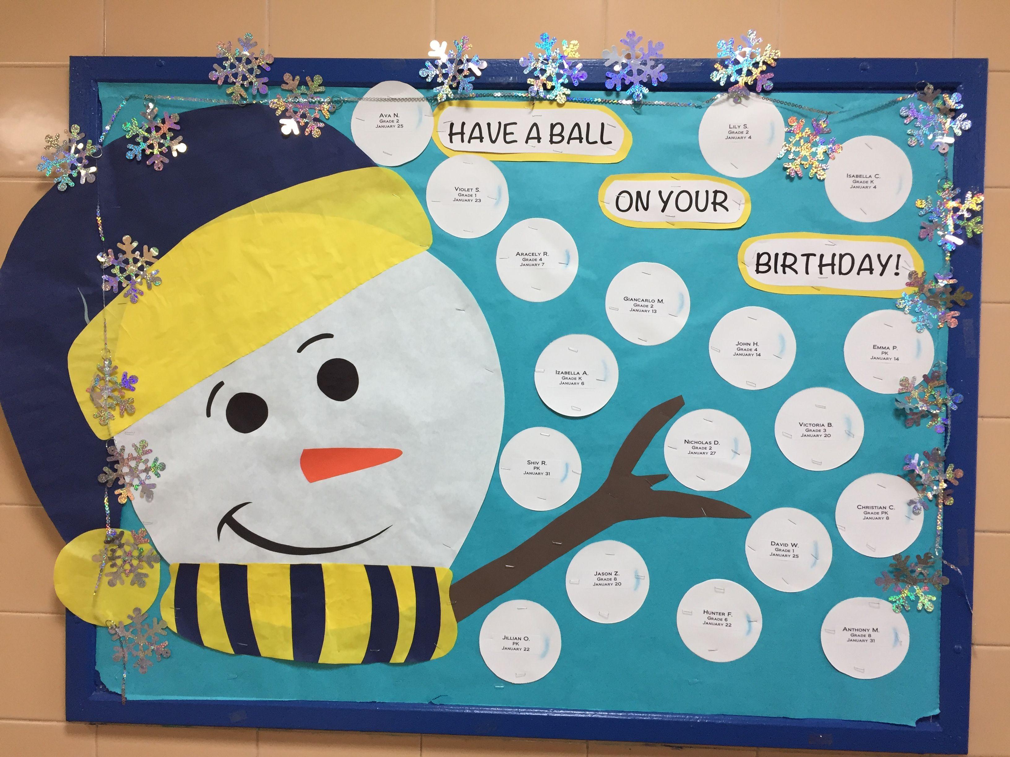 January Birthday Bulletin Board Boards