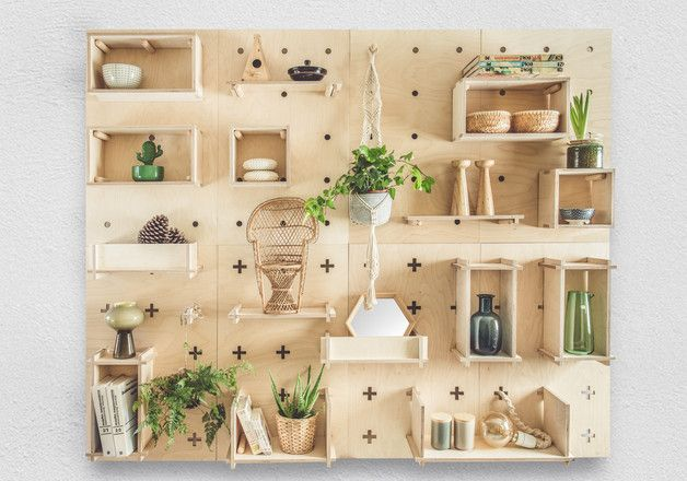 Pegboard Xo Collective Wall System Consists Of Functional Wall Panels And Durable Plywood Shelves It Allows You Plywood Shelves Kitchen Design Diy Peg Board