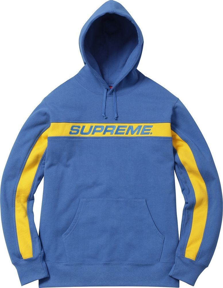 Supreme Full Stripe Hooded Sweatshirt In Pale Royal Blue Size Medium M Hoo