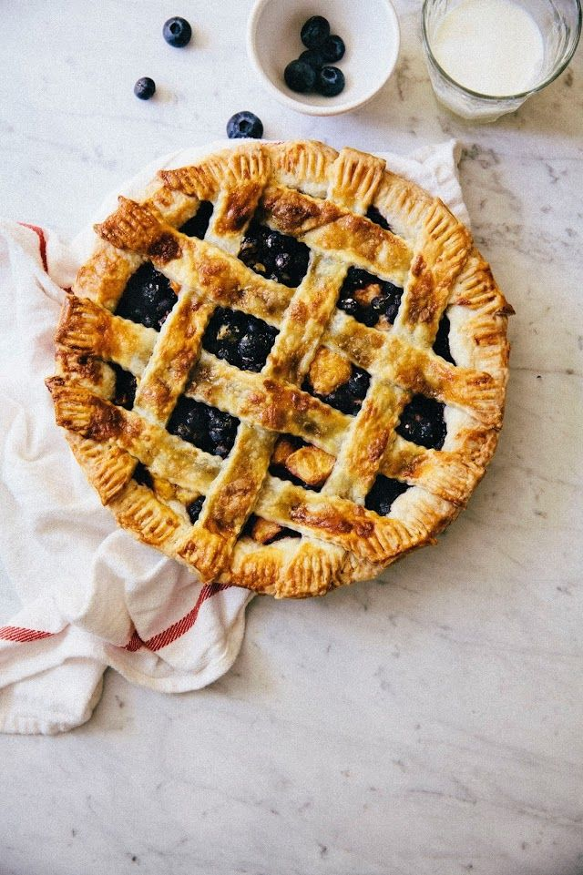Blueberry, Peach, and Lavender Perfect Pie