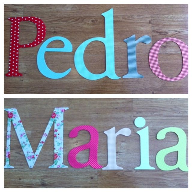 letters made with fabrics