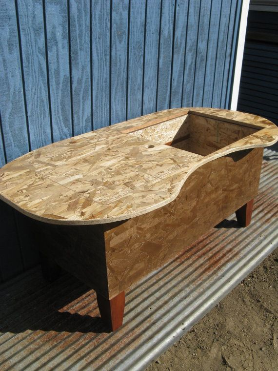 Osb Kidney Bathtub Shaped Storage Coffee Table By Modosb On Etsy