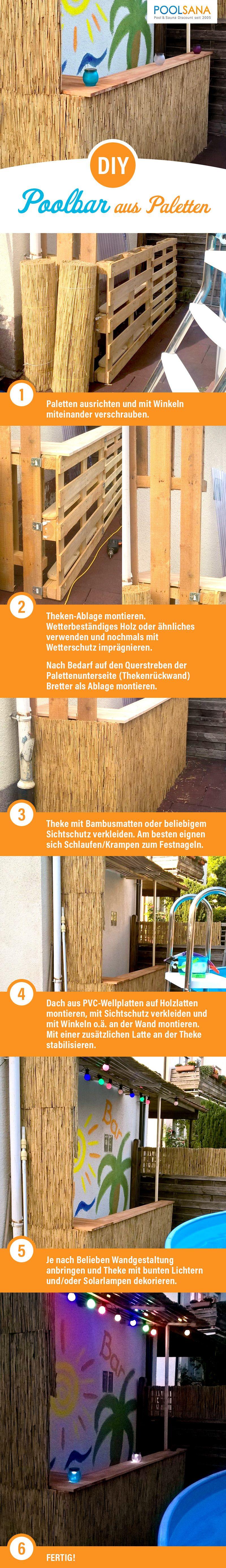 DIY: Poolbar aus Paletten! So bauen Sie Schritt-für-Schritt einfach ...