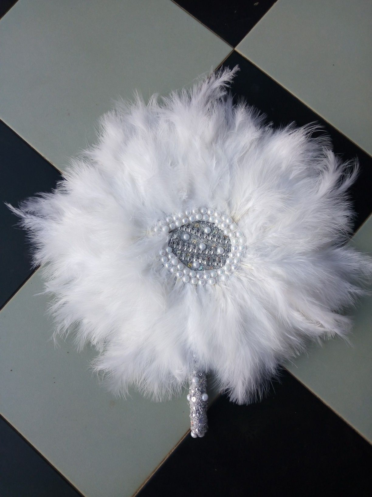 White Feather Bridal Fan Bridal Accessories Wedding Fans Hand Fans For Wedding