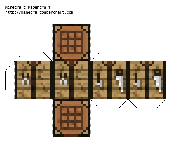 Crafting Table Papercraft You Can Make It Bigger And Craft Items
