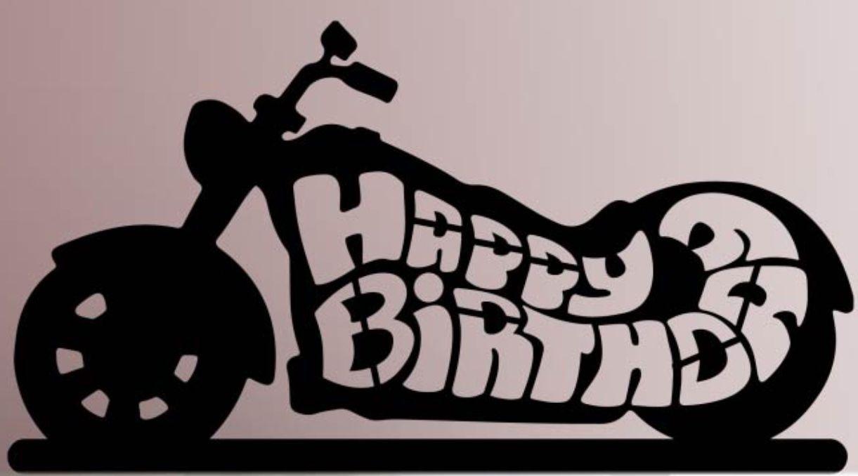 Happy birthday motorcycle Boyfriend Happy birthday