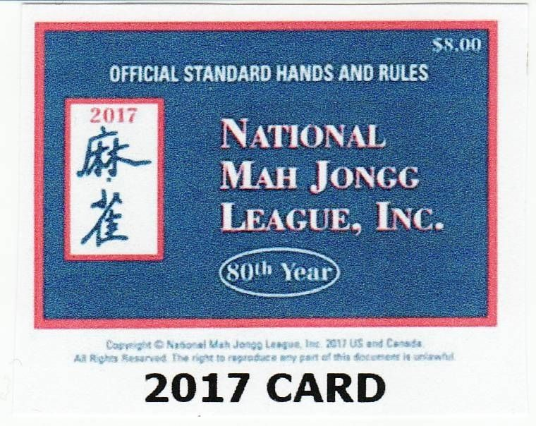picture relating to Mahjong Card Printable named 2017 Nationwide Mah Jongg League Card Lg. Print with Mahjong