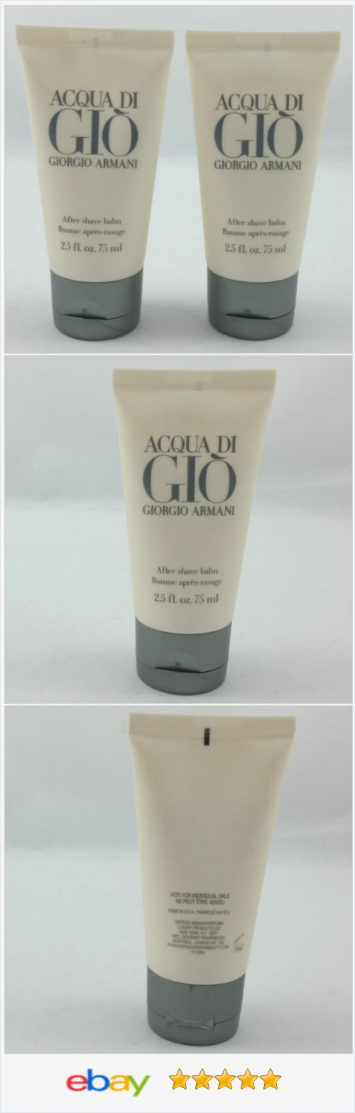 26ea46e30c09 Giorgio Armani Acqua Di Gio After Shave Balm for Men 2.5 fl oz 75ml New Lot  of 2