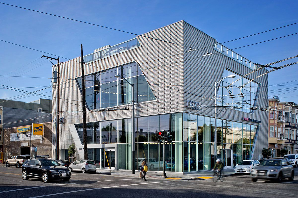 audi san francisco on behance | arch auto showroom | audi, san