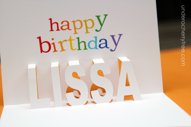 A Popup Birthday card for Lissa – Make a Pop Up Birthday Card