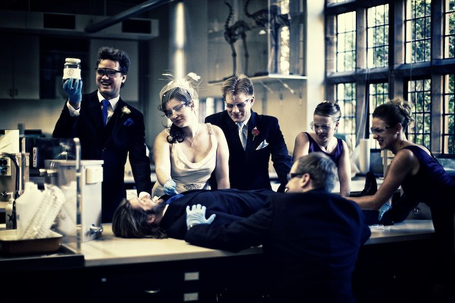 The Experiment: A bridal party of medical students and a key to the disection lab. What could possibly go wrong?