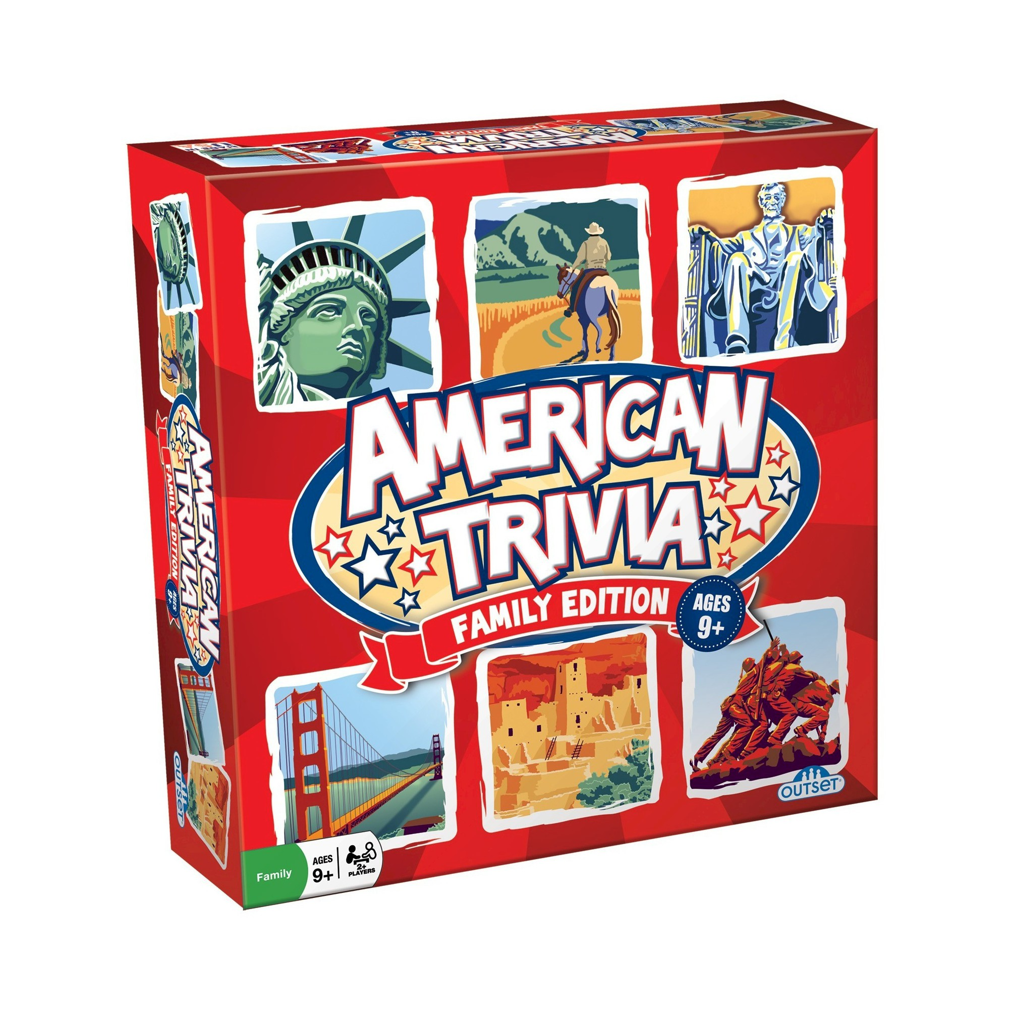 Outset Media American Trivia Family Game With Images
