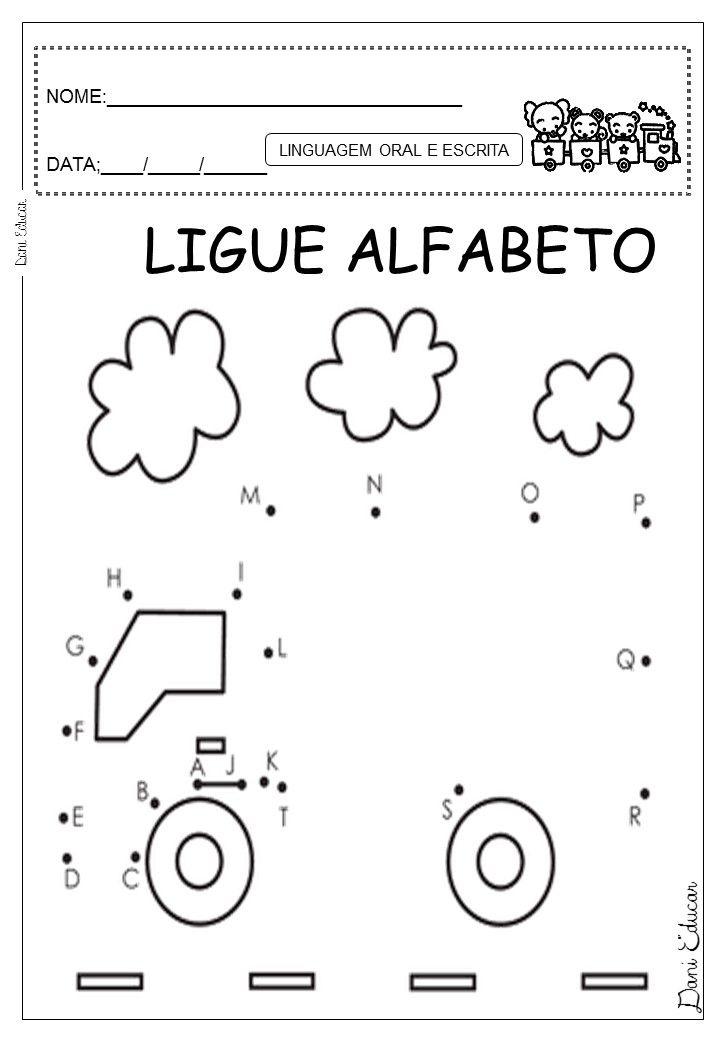 Dani Educar : ALFABETO | Dot to Dot | Pinterest