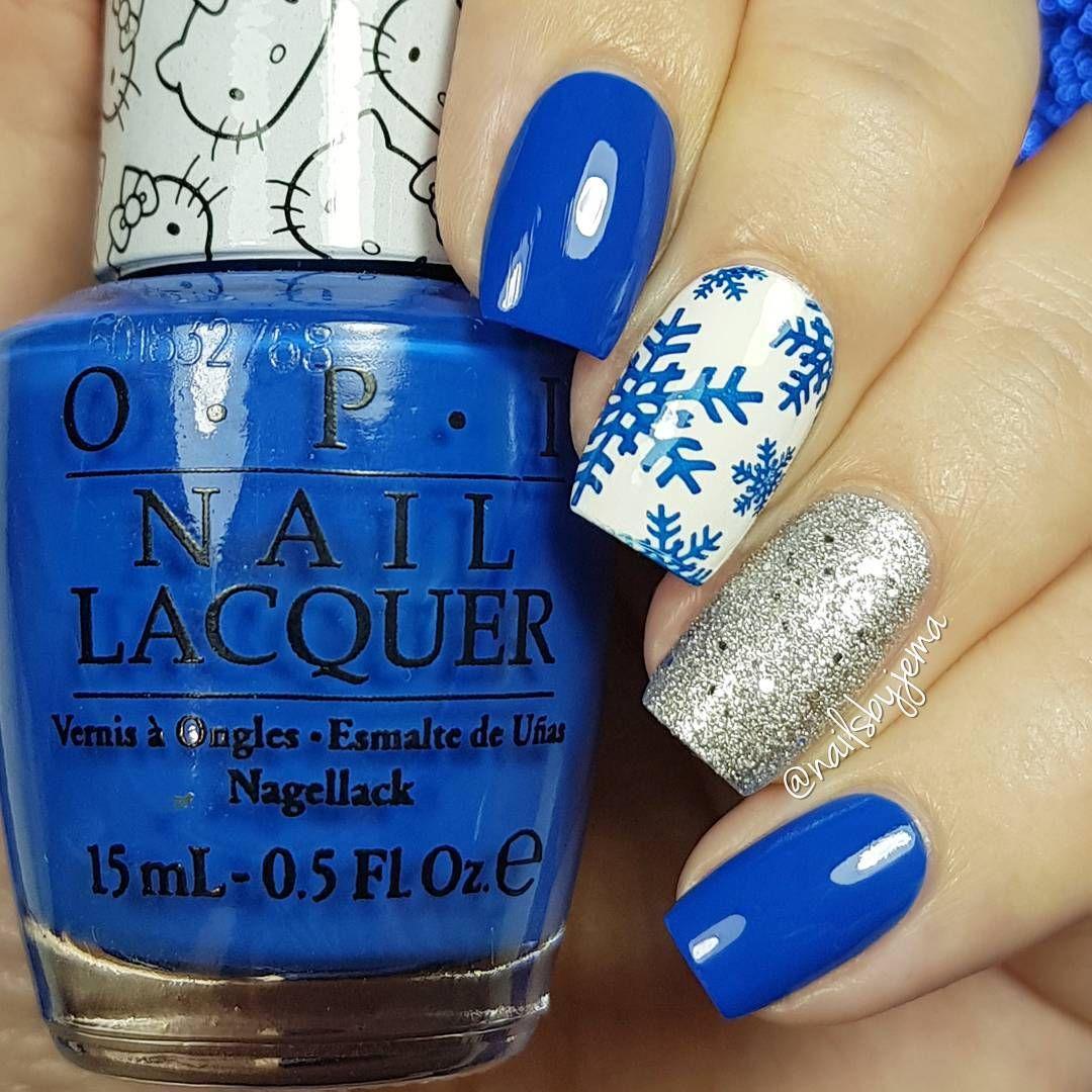 nailsbyjema) Products used: OPI - My Pal Joey, OPI - Alpine Snow ...