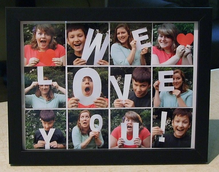 photo gifts framed snapshots with cardstock letters