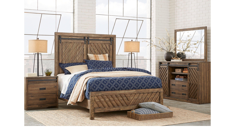 Lake Arrowhead Brown 7 Pc Queen Panel Bedroom Queen Bedroom Sets Dark Wood Bedroom Sets Queen King Bedroom Sets Bedroom Design