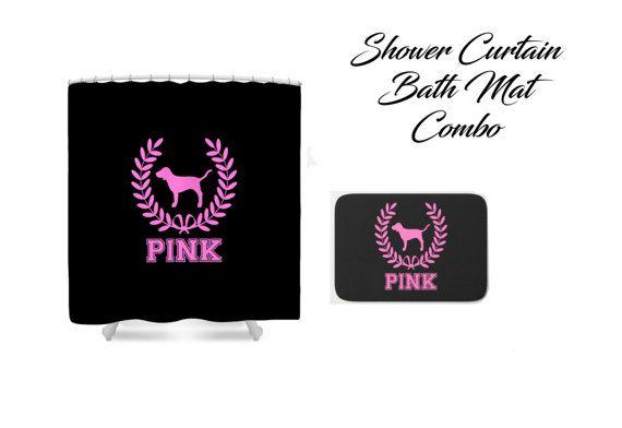 Victoria Secret Pink Dog Logo Shower Curtain Bath By Designyland